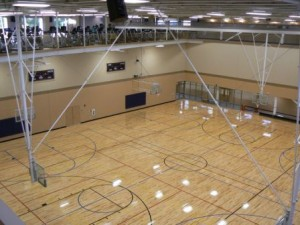 Basketball Backstop Tall Ceiling Mount