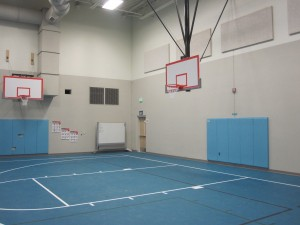 Gym Basketball Backstops Wall Mount and Ceiling Mount