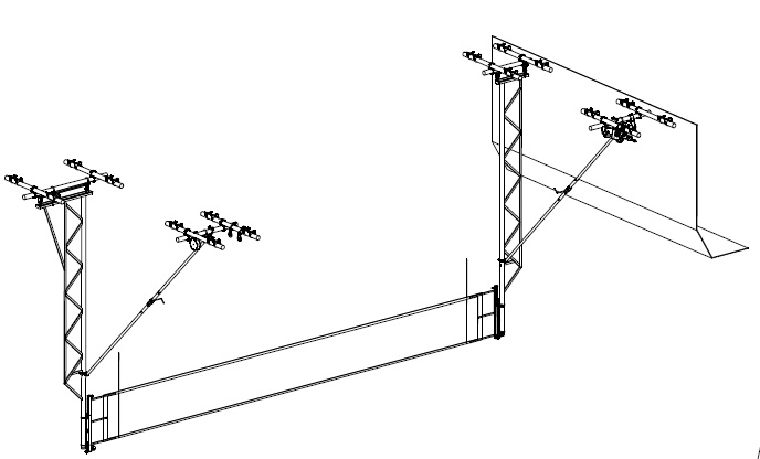 Overhead Basketball System Drawing
